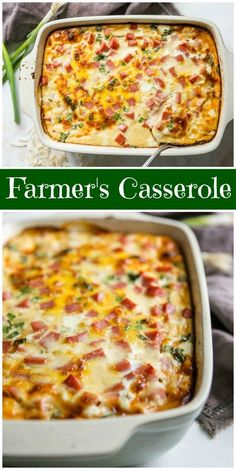 Farmer's Casserole Just a great breakfast casserole, and it's super easy to make! - Easy Farmer's Casserole recipe : the best Farmer's Casserole recipe : the best breakfast casserole recipe : Breakfast And Brunch, Best Breakfast Casserole, Breakfast Dishes, Healthy Breakfast Recipes, Brunch Casserole, Healthy Brunch, Breakfast Quotes, Casserole Ideas, Breakfast Dessert