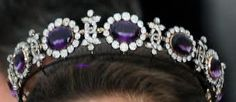 Napoleonic Amethyst Tiara worn by Silvia, Queen of Sweden