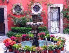 Fountain, courtyard, Casa Luna, San Miguel de Allende, Mexico