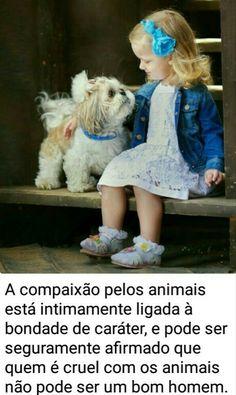 Amor cachorro criança.