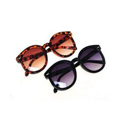 Amsterdam - Flat Top Vintage Leopard / Black Sunglasses