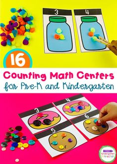 Counting Activities and Centers for Pre-K & Kindergarten