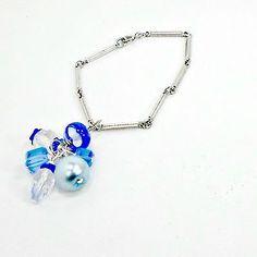 Handmade-Bracelet-Cluster-silvertone-bar-lampwork-faux-pearls-crystal-blues-sm-7