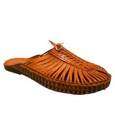 Kolapuri Centre Brown Leather Ethnic Footwear