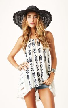 peace and arrow tunic // @Free People #whatsnew #planetblue
