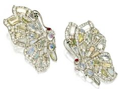 Schepps, опал, алмаз, цветные каменные brooches.jpg