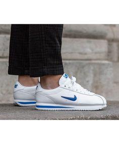 Nike Cortez Femme Basic Jewel 18 Blanc Bleu Nike Cortez Mens 3c5ccd0e92