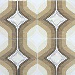Vintage Bruin Geometrisch Behang