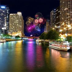 finally after billion years of efforts I was able to find lower Michigan Ave. bridge with no traffic - and able to capture Friday fireworks :) #Fireworks #Finale #FridayFireworks #ChicagoRiver #MichiganAveBridge #LowerBridgeLevel #MichiganAve #ThemMagnificentMile  #FridayEvening #Chicago #Pretty #Summer2016 #July2016 #Colors #LateEvening