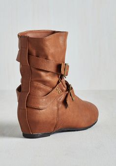 Bring the Flair Boot in Whiskey | Mod Retro Vintage Boots | ModCloth.com