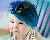 Light Pink Lace and Satin Vintage Rose Headband Newborn Baby Toddler Girls Gorgeous Elegant Hair Flair. $32.00, via Etsy.