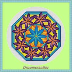 Mandala Springtime - download kruissteek borduurpatroon pdf - 197 x 197 kruisssteken -36 x 36 cm