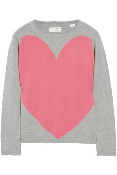 Chinti and Parker | Love Heart intarsia cashmere sweater | NET-A-PORTER.COM