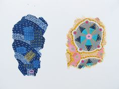 Two Fragments, No 3, Ink and Gouache on Paper, 14 cm x 21 cm, unframed.