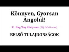 Könnyen, Gyorsan Angolul 1-106. nap - YouTube Nap, English Words, Thirty One, Languages, Cards Against Humanity, Education, Youtube, Idioms, Onderwijs