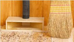 Dust collection chute - Definitely need one in the shop - no need to bend down with dust pan!