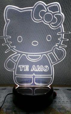 Lámparas LED iluminación. Kitty. Corte láser grabado láser acrílico iluminación