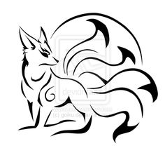 Today's fantastical creature is the kitsune. Most commonly found in Japanese myths (although also found in some Chinese and Korean stories), the kitsune are magical foxes that can assume hu… Fox Tattoo Design, Sketch Tattoo Design, Fox Design, Shape Design, Art Surf, Celtic Tribal, Fox Drawing, Fox Illustration, Celtic Tattoos