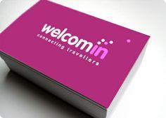 WELCOMIN: Diseño de logo para red social de viajeros que opera a través de internet