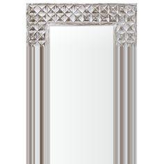 Cooper Classics Gilbert Mirror in Distressed White Wash