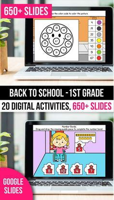 These distance learning sight word practice pages and no worksheets activities for preschool, kindergarten and first grade students and a great way to practice sight words and phonics. These slides can be used with Google Classroom and Google Slides, SeeSaw and PowerPoint. It includes practice pages for fry's first 100 sight words and for dolch primer, pre primer and 1st grade words. Your kinder students will love practicing in the classroom or at home if you're homeschooling. #distancelearning 1st Grade Math Games, 1st Grade Activities, Back To School Activities, Learning Sight Words, Sight Word Practice, Number Bonds, Google Classroom, Puzzle Pieces, Grade 1