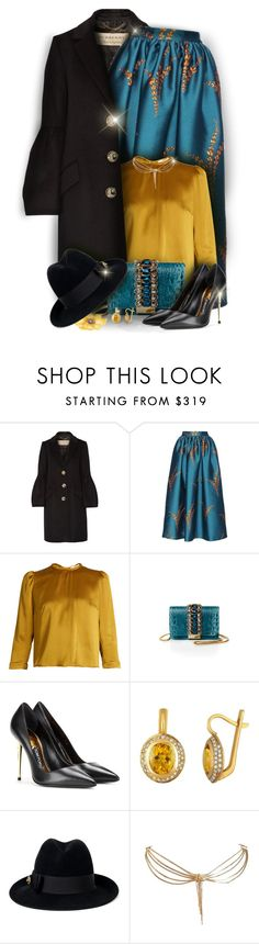 """* * *"" by monazor ❤ liked on Polyvore featuring Burberry, Dries Van Noten, Roksanda, GEDEBE, Tom Ford, Gucci and Christian Dior"