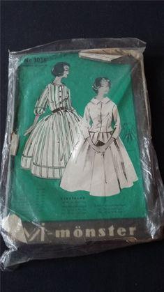 Symönster till skjortblusklänning och konfirmat.. (340998662) ᐈ Köp på Tradera Swedish Sewing, Vintage Sewing Patterns, Retro, Auction, Retro Illustration