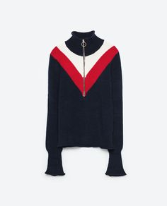 Image 8 of ZIPPED HIGH NECK SWEATER from Zara
