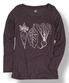 Another great find on #zulily! Heather Purple Carrot Kale Beet Tee by Food Fight #zulilyfinds
