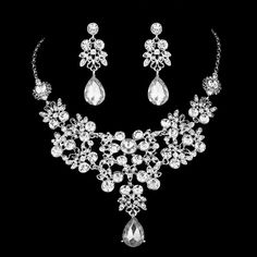 Luxury Wedding Jewelry sets Austrian crystal Charm Necklace and Earrings…