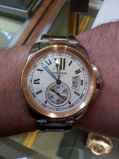 #Cartier #Calibre #watch in steel and rose gold - derekshiekhi.blogspot.com #watchporn