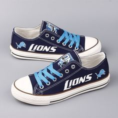 Detroit Lions Converse Style Sneakers - http://cutesportsfan.com/detroit-lions-designed-sneakers/