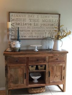 Family Rules Framed Sign All hand painted and built by kspeddler Sideboard Decor, Decor, Room Remodeling, Rustic Decor, Rustic Living Room, Buffet Decor, Entryway Decor, Home Decor, Room Decor