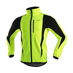 ARSUXEO Winter Warm UP Thermal Softshell Cycling Jacket Windproof Waterproof Bicycle MTB Mountain Bike Clothes 15K Green Size XLarge >>> Continue to the product at the image link.