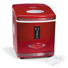 Nostalgia Electrics 8.3-lb Capacity Portable Ice Maker (Red) (Common: 11-in; Actual 11.8-in)