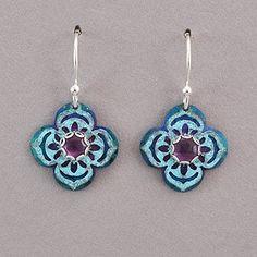 Holly Yashi Gypsy Bloom Earrings - Ocean / Amethyst