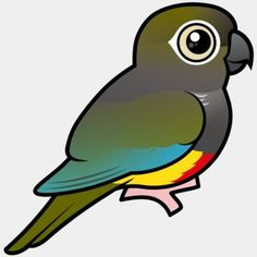 Cute Birdorable Burrowing Parakeet, also known as Patagonian Conure or Patagonian Parrot, in Parrots & Parakeets. The Burrowing Parakeet is a small species of Conure, Cute Birds, Birds Of Prey, Parakeet, Vulnerability, Conservation, South America, Habitats, Baby Animals