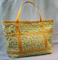 The Quilted Traveler's Tote Pattern Download by Jo-Lydia's Attic. Available now at connectingthreads.com