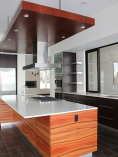 Stunning Modern Contemporary House Design : Awesome Contemporary Kitchen Design White Countertop CHV 1 House