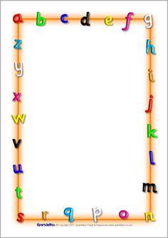 Alphabet letters A4 page borders (SB3894) - SparkleBox