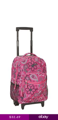 ccda321b431a3 Backpack With Wheels For Girls Rolling School Travel Bag Kids Wheeled Back  Pack