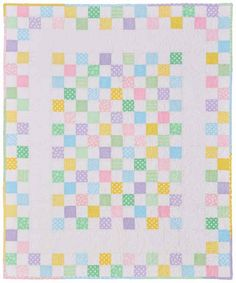 Sewing Quilts Baby Checks - Baby Quilt Patterns - Baby quilt patterns like Baby Checks bring nostalgia back to quilting with old-fashioned charm in the fabric choices and arrangement. Quilt Baby, Baby Quilts Easy, Cot Quilt, Baby Girl Quilts, Girls Quilts, Children's Quilts, Quilts For Babies, Farm Quilt, Amish Quilts