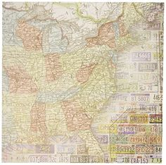 Fabric Yardage - Antique World Map Fabric on Cotton - Sewing ...