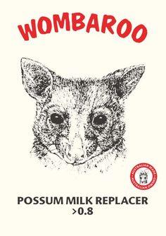 Possum Milk Replacer >0.8 $152 for 5kg, Min Crude Protein30% Min Crude Fat35% Max Fibre0% Max Salt1.1%