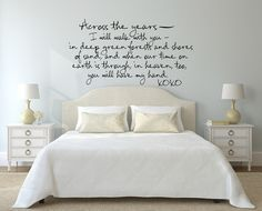 Across the Years... Cute Romantic Poem Wall Decal Sticker Art – Imprinted Designs