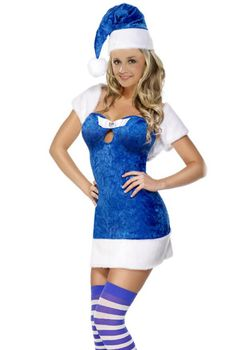 Blue Christmas Present Costume