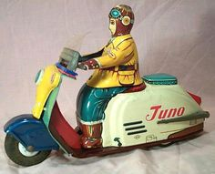 Japanese tin litho scooter