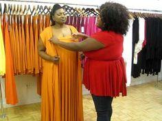 Multiple ways for busted girls!! #1/3. Monif C. Plus Sizes Marilyn Convertible Dress Video #4 - Jill Scott Wrap