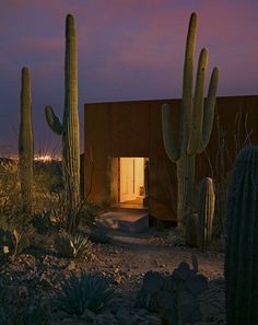 Desert and man-made. Inside and out. Vastness and intimacy. Modern and ancient. Desert retreat,...