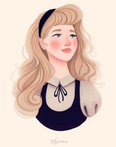 Retratos delicados das princesas Disney - Just Lia | Por Lia Camargo